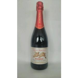 スパークリングワイン サンテロ 天使のロッソ イタリア スパークリングワイン  赤 甘口  750ml|plat-sake