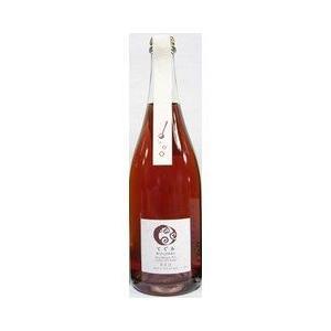 丹波ワイン スパークリングワイン てぐみ マスカットベリーA 無添加  ロゼ  750ml|plat-sake