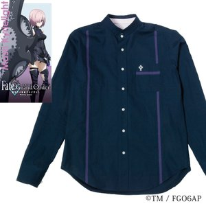 メンズ カジュアルシャツ 長袖 標準型 Fate/GrandOrder 「マシュ・キリエライト」モデル スタンドカラー EAFG01-02|plateau-web