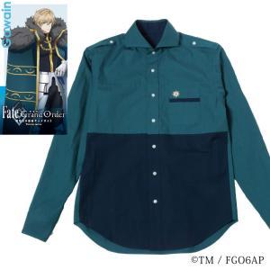 メンズ カジュアルシャツ 長袖 標準型 Fate/GrandOrder 「ガウェイン」モデル カッタウェイ EAFG01-04|plateau-web