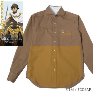 メンズ カジュアルシャツ 長袖 標準型 Fate/GrandOrder 「オジマンディアス」モデル  カッタウェイ EAFG01-05|plateau-web