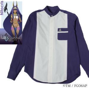 メンズ カジュアルシャツ 長袖 標準型 Fate/GrandOrder 「ニトクリス」モデル スタンドカラー EAFG01-06|plateau-web