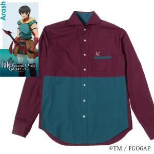 メンズ カジュアルシャツ 長袖 標準型 Fate/GrandOrder 「アーラシュ」モデル カッタウェイ EAFG01-08|plateau-web