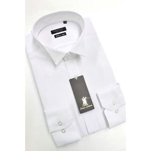 ワイシャツ Yシャツ メンズ長袖 ウィングカラー 形態安定 HybridSensor P12HBZW01|plateau-web