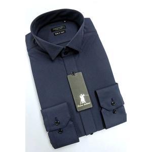 ワイシャツ Yシャツ メンズ長袖 ウィングカラー 形態安定 HybridSensor P12HBZW03|plateau-web