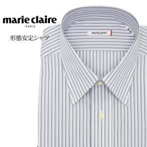 ワイシャツ メンズ 長袖 形態安定 形状記憶 標準型 marieclaire レギュラーカラー P12MCR212|plateau-web
