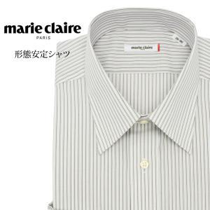 ワイシャツ メンズ 長袖 形態安定 形状記憶 標準型 marieclaire レギュラーカラー P12MCR213|plateau-web