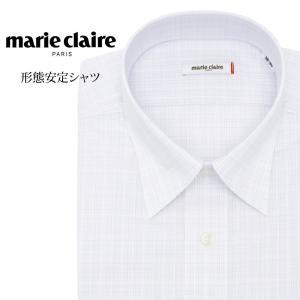 ワイシャツ メンズ 長袖 形態安定 形状記憶 標準型 marieclaire レギュラーカラー P12MCR215|plateau-web