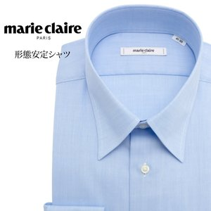 ワイシャツ メンズ 長袖 形態安定 形状記憶 標準型 marieclaire レギュラーカラー P12MCR217|plateau-web