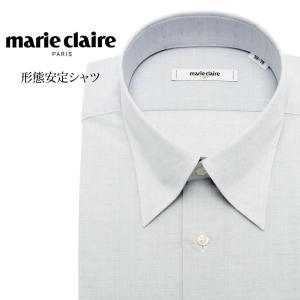 ワイシャツ メンズ 長袖 形態安定 形状記憶 標準型 marieclaire スナップダウン P12MCZD05|plateau-web