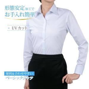 レディースシャツ 長袖 形態安定 標準型 PLATEAU P31PLA549 plateau-web