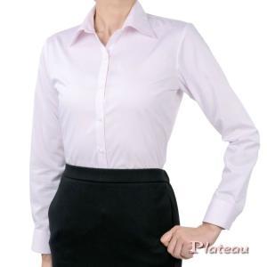 レディースシャツ 長袖 形態安定 標準型 PLATEAU P31PLA552 plateau-web