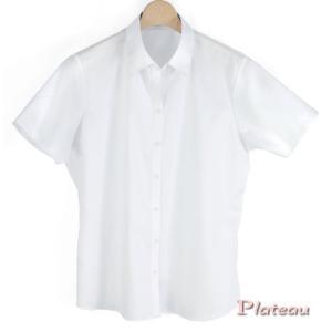 レディスシャツ半袖 スキッパーカラー PLATEAU P33PLA249 plateau-web