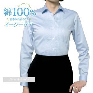 レディースシャツ 長袖 形態安定 綿100% 標準型 HeartMadeShirts P35HMA219 plateau-web