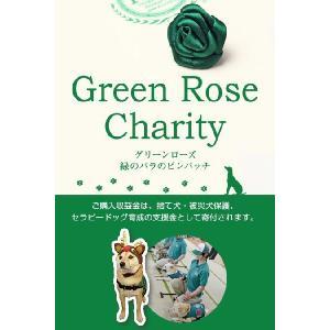 共通小物 セラピードッグ育成支援チャリティー商品 グリーンローズ・緑のバラのピンバッチ  P93CHP001|plateau-web