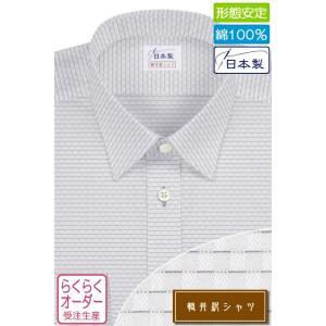 ワイシャツ Yシャツ メンズ長袖・半袖 レギュラーカラー ショートポイント 純綿 ラベンダー 形態安定 軽井沢シャツ Y10KZR179 plateau-web
