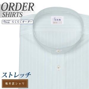 オーダーシャツ ワイシャツ Yシャツ オーダーワイシャツ 長袖 半袖 大きいサイズ スリム メンズ オーダー 日本製 形態安定 軽井沢シャツ スタンドカラー plateau-web