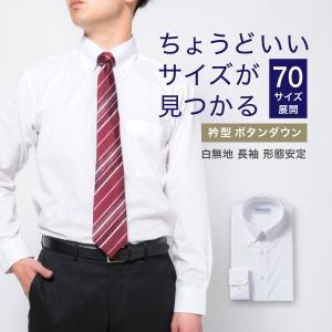 ワイシャツ メンズ 長袖 形態安定 形状記憶 標準型 CARPENTARIA ボタンダウン Y12CAB101|plateau-web