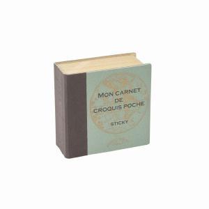 表紙に箔押しされた「MON CARNET DE CROQUIS POCHE」は 「ノートをポケットに...