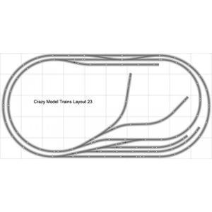 鉄道模型 Layout #023 Bachmann HO EZ Track (NS) Nickel Silver - 5' X 10' NEW - Train Set