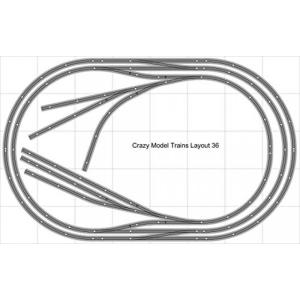 鉄道模型 Layout #36 Bachmann HO EZ Track (NS) Nickel Silver - 5' X 8' NEW - Train Set