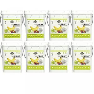 キャンプ用品 Augason Farms Freeze Dried Fruit Variety Pack 4 gallon Kit (8 Pail)