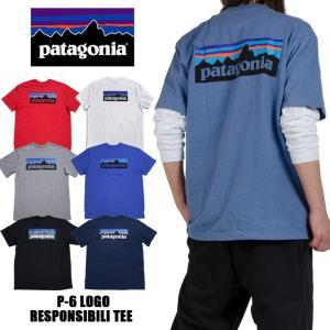 パタゴニア 半袖Tシャツ patagonia Tシャツ  ブルー レッド 赤 グレー 黒 ブラック ...