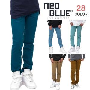 NEO BLUE カラースキニーパンツ ブルー系など ブラウン