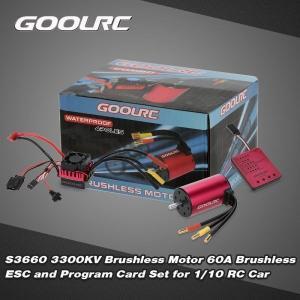 GoolRC S3660 3300KVセンサレスブラシレスモータ60AブラシレスESCおよびプログラムカードコンボセット1/10 RC車用|playone