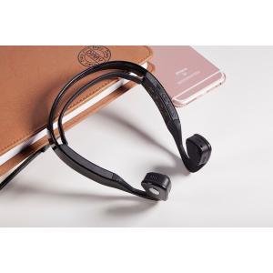 最新 骨伝導ヘッドセット ワイヤレス Bluetooth 4.0 イヤホン アウトドア スポーツ ヘッドフォン ハンズフリー マイク付き スマートフォン|playone