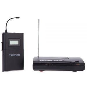 UHF ワイヤレス モニター システム 50 m 伝送距離のインイヤー式テレオ ヘッドセット送信機受信機液晶 6 の選択可能チャネル|playone