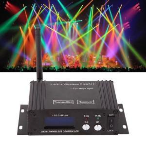 2.4GワイヤレスDMX 512照明コントローラトランスミッタレシーバ LCDディスプレイ/パワー調節可能/リピータ【領収発行可】|playone