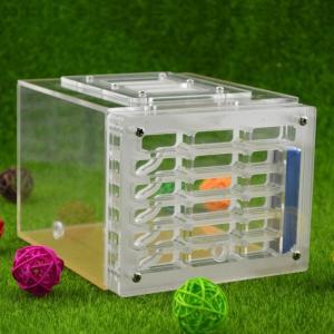 アリさんのおうち ネスト 昆虫ケージ ファーム フィードハンパー プラスチックアクリルディスプレイ 正方形ボックス playone