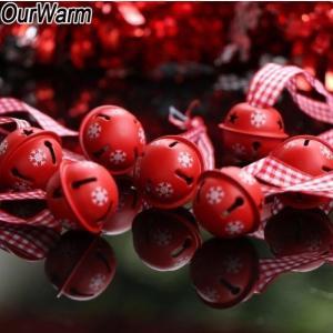 ベル型クリスマスオーナメント 200個セット鈴 赤 デコレーション ジングルベル 新品【領収発行可】 playone