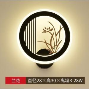 和風 アジアンテイスト ウォールライト モダンスタイル ラウンドシェイプ 円形 LED ルームランプ 壁面照明 28cm 選べる4デザイン playone