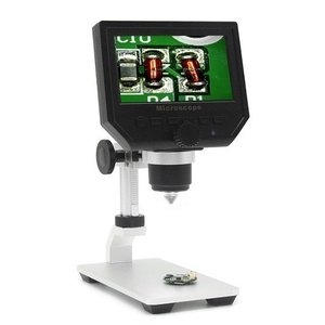 600 X 4.3 LCDディスプレイ携帯電話のメンテナンスのための3.6MP電子デジタルビデオ顕微鏡ポータブルLEDの拡大鏡メタルスタンド|playone