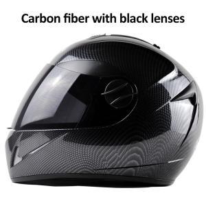 お得! DOT Carbon Fiber Motorcycle Helmets Double Lens Racing Safety Full Face Moto Helmet Casco|playone