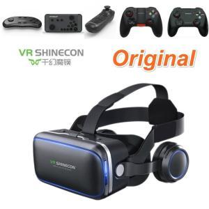 100%オリジナルvr shinecon 6.0仮想現実ゴーグル120 fov 3dメガネgoogl...