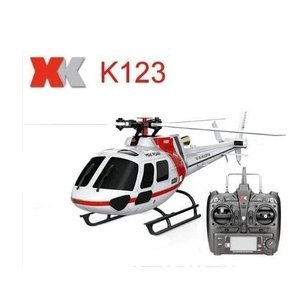 XK K123 6CHのブラシレススケールAS350 3D6G RCのヘリコプターシステム|playone