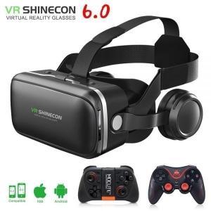 Vr shinecon 6.0 3dメガネボックスgoogle段ボール仮想現実ゴーグルvrヘッドセッ...