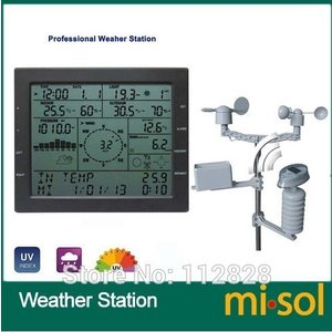 Misol / プロフェッショナル ウェザー ステーション / 風速 風向 雨計 圧力 温度 湿度 ...