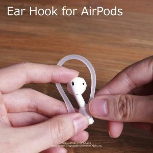apple AirPods 紛失防止のイヤーフックです。マラソンやジョギングなどのスポーツ時に便利。...