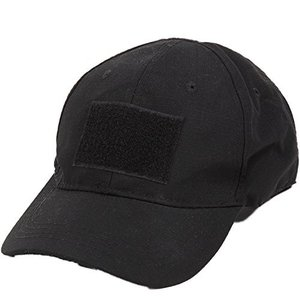 ●シンプルなブラックキャップです。  ●帽子フロントにベルクロが付いているので、お好きなワッペンでカ...