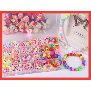 DIY ビーズ ラブリービーズ 24種類 約520個 女の子 おもちゃ アクセサリーキット ハンドメ...
