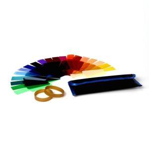 カラーフィルター 20枚セット フラッシュ/ストロボ用 ラバーバンド2個入り かさばらない専用パッケ...