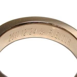 結婚指輪 安い マリッジリング 婚約指輪 イニシャル メッセージ刻印サービス【有料】|plejour