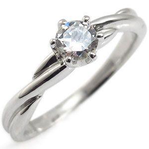 婚約指輪 安い ダイヤモンド リング K18 シンプル 一粒 エンゲージリング|plejour