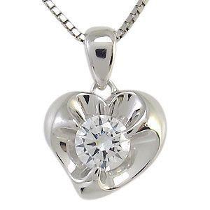 プラチナ ダイヤモンド ネックレス (VSクラス-0.30ct) 一粒 ペンダント|plejour