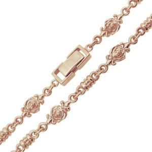 10金 薔薇 ネックレス メンズネックレス ローズチェーン 中折れクラスプ plejour 05