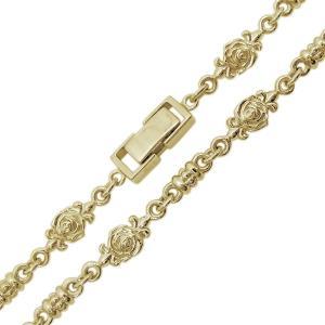 10金 薔薇 ネックレス メンズネックレス ローズチェーン 中折れクラスプ plejour 06